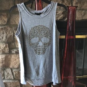 LUCKY BRAND TANK WITH SKULL